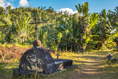 The cemetery of past pirates at St. Mary Island, Madagscar. The old cemetery of past pirates at St. Mary Island, Madagscar Royalty Free Stock Photo