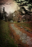 Cemetery Path Royalty Free Stock Photos