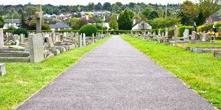 Cemetery path Stock Photo