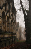 Cemetery path, Olsany, Prague, Czech Royalty Free Stock Photos
