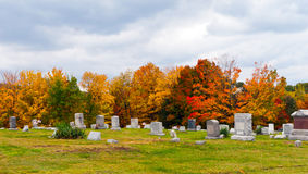 Cemetery in Pennsylvania. Pleasant Hill Cemetery, also part of the United Brethren Church Cemetery, located in Glasgow in Reade Township in Cambria County in Stock Photo