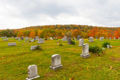 Cemetery in Pennsylvania. Pleasant Hill Cemetery, also part of the United Brethren Church Cemetery, located in Glasgow in Reade Township in Cambria County in Stock Photography