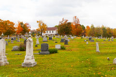 Cemetery in Pennsylvania. Pleasant Hill Cemetery, also part of the United Brethren Church Cemetery, located in Glasgow in Reade Township in Cambria County in Royalty Free Stock Photography