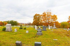 Cemetery in Pennsylvania. Pleasant Hill Cemetery, also part of the United Brethren Church Cemetery, located in Glasgow in Reade Township in Cambria County in Royalty Free Stock Photos