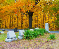 Cemetery in Pennsylvania. Pleasant Hill Cemetery, also part of the United Brethren Church Cemetery, located in Glasgow in Reade Township in Cambria County in Royalty Free Stock Images
