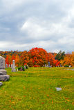 Cemetery in Pennsylvania Stock Photography
