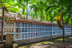Cemetery for peoples, who died during war between Vietnam and U Royalty Free Stock Photo