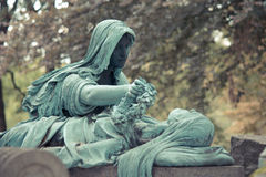 Cemetery Pere Lachaise. In Paris, graves and sculptures Stock Images