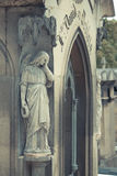 Cemetery Pere Lachaise. In Paris, graves and sculptures stock image