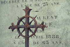 Cemetery Pere Lachaise Stock Images