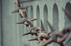 Cemetery Pere Lachaise. In Paris, graves and sculptures Royalty Free Stock Photography