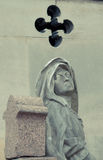 Cemetery Pere Lachaise. In Paris, graves and sculptures stock photography