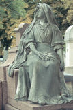 Cemetery Pere Lachaise. In Paris, graves and sculptures royalty free stock photo