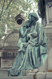 Cemetery Pere Lachaise. In Paris, graves and sculptures Stock Photos