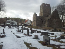Cemetery. Picturesque village in Sigtuna, Sweden Stock Image
