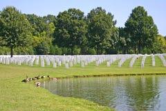 Cemetery & Pond Stock Image