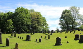 Cemetery in Quebec. Cemetery in Eastern Townships, Quebec stock photography