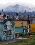 Cemetery Quetzaltenango, Guatemala. View of a Cemetery in Quetzaltenango Guatemala Stock Photos