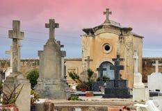 Cemetery Rain Stock Photo