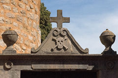 Cemetery of rennes le chateau city Royalty Free Stock Photos