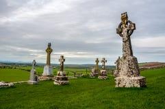 Cemetery of Rock of Cashel in Ireland Royalty Free Stock Photos