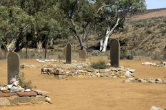 Cemetery at ruins of Kanyaka Station, Flinders Ranges, South Australia stock photo
