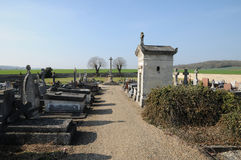 The cemetery of Sagy in Val d Oise Stock Image