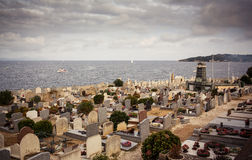 Cemetery in Saint Tropez Stock Photos