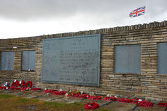 Cemetery at San Carlos. British cemetery at San Carlos in the Falkland Islands Stock Image