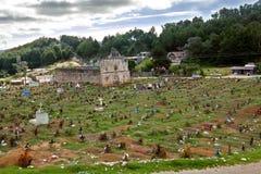 The cemetery of San Juan Chamula, Chiapas, Mexico royalty free stock photos