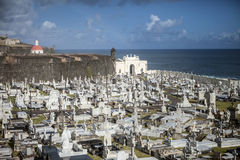 Cemetery in San Juan Puerto Rico Stock Photos