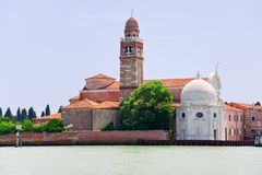 Cemetery at San Michele island in Venice, Italy Royalty Free Stock Image