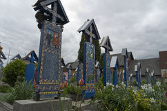 Cemetery Sapanta town  in Romania Stock Images