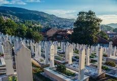 Cemetery in Sarajevo Stock Images