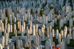 Cemetery in Sarajevo, Bosnia and Herzegovina Stock Photo