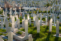 Cemetery in Sarajevo, Bosnia and Herzegovina Royalty Free Stock Photos