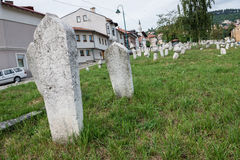Cemetery in Sarajevo Royalty Free Stock Photos