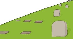 Cemetery Scene Stock Images