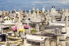 Cemetery by the Sea Stock Image