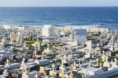Cemetery at sea in Puerto Rico Royalty Free Stock Image
