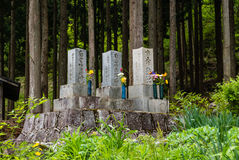 Cemetery in Shirakawa-go Royalty Free Stock Images