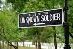 Cemetery sign Stock Images