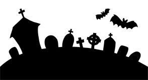 Cemetery silhouette Royalty Free Stock Photography