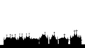 Cemetery skyline Royalty Free Stock Image