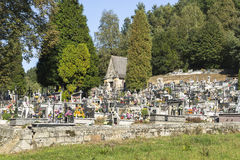 Cemetery in small village Stock Images