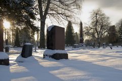 Cemetery Snow Royalty Free Stock Image