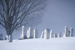 Cemetery in the snow, VT Stock Images