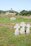 Cemetery of the soldiers of Wehrmacht in Russia Stock Photo