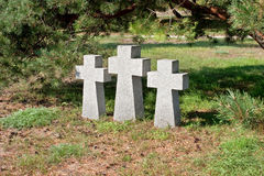 Cemetery of the soldiers of Wehrmacht in Russia Stock Photography