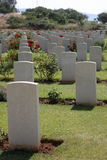 Cemetery at Souda Bay, Crete. The Allied Forces Cemetery at Souda Bay, Crete stock photography